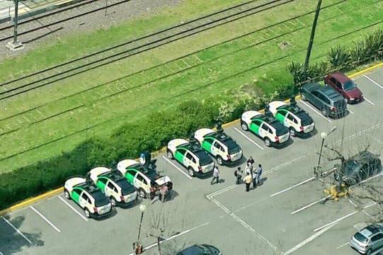 Después del Congreso, llevaron los autos a Puerto Madero (donde están las oficinas de Google Argentina). Foto: Twitter/nandoc2011