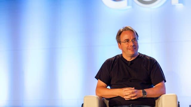 Linus Torvalds, hace unos días, en una conferencia realizada en Canadá