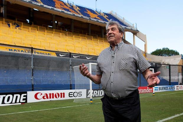 A 50 años, el Tano Antonio Roma revivió su tarde de gloria en la Bombonera.  /Sebastián Rodeiro