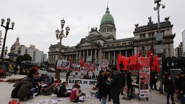 Concentración de una de las marchas Ni Una Menos