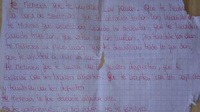 """""""Te mereces que te quieran con ganas"""": la carta que leía por las mañanas Ailín antes de que su ex novio la asesinara"""