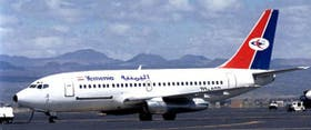 Uno de los aviones de la flota de Yemen Airways