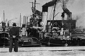Una imagen del puerto de Buenos Aires en 1936