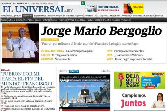 El Universal, de México. Foto: Captura de Pantalla