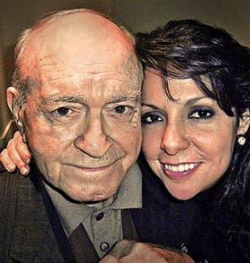 Alfredo Di Stéfano y su novia, Gina González