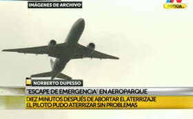 Escape de emergencia en Aeroparque en un vuelo de Aerolíneas Argentinas
