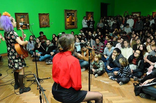 El grupo Fémina Música presentó su repertorio en la sala Impresionista en una pasada edición. Foto: Gentileza Ministerio de Cultura de la Nación