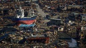 La ciudad de Kesennuma, en Japón, destruida por el tsunami en 2011