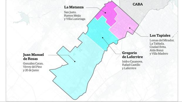 Cómo quedaría el mapa del distrito, si se concretara la división