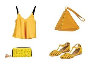 Más onda, menos plata: prendas y accesorios en amarillo hasta $1250
