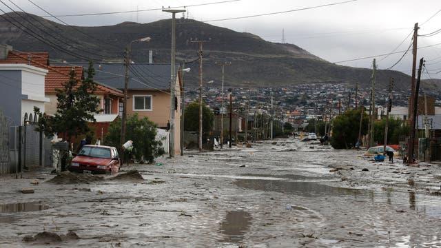 Comodoro Rivadavia, ciudad declarada zona de desastre. Barrio Juan XXIII. Foto: LA NACION / Ricardo Pristupluk