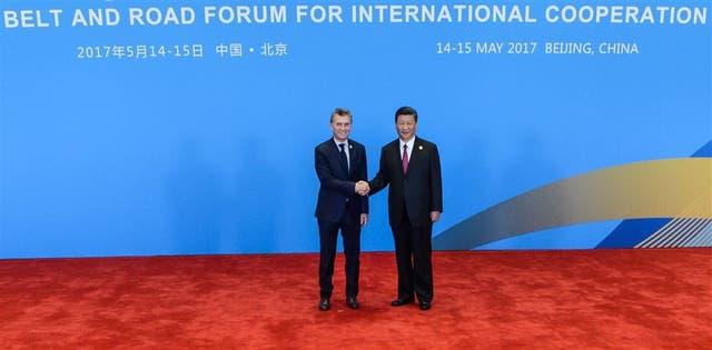 Los presidentes Macri y Xi Jinping, en Pekín