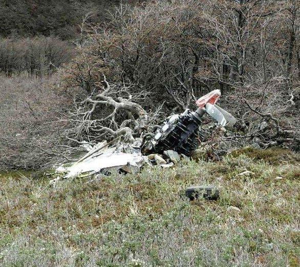 Veinte años después: restos del avión perdido en 1997 y encontrado en 2016 en el Parque Nacional Perito Moreno