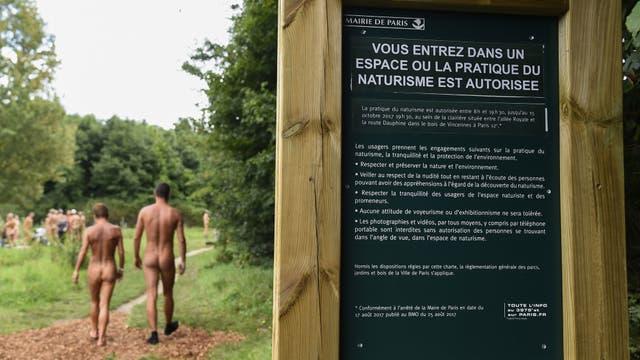 En el parque Bois de Vincennes abrió el espacio público nudista parisino