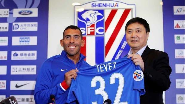 El presidente del Shanghai Shanhua liquidó a Tevez