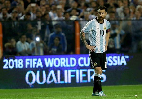 El astro del equipo argentino, Lionel Messi