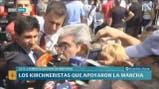 Aníbal Fernández en la marcha de Moyano contra el Gobierno