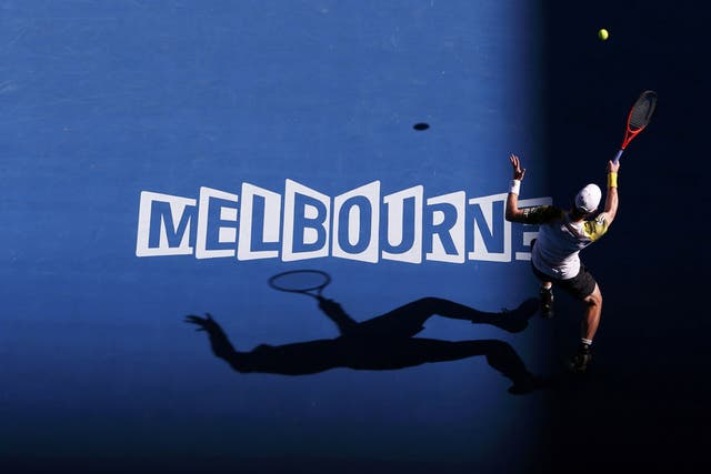 Gran imagen de Andy Murray, que será semifinalista