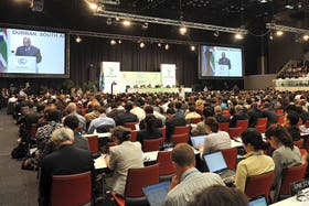 El presidente sudafricano Jacob Zuma inauguró ayer la cumbre
