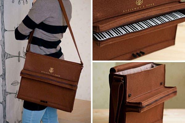 ¿Qué tal esta cartera en forma de piano? ¡Con todos los detalles!. Foto: Bemlegaus.com