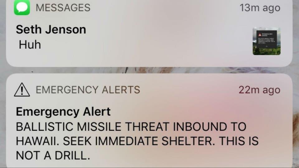 La amenaza del misil recibida en los celulares