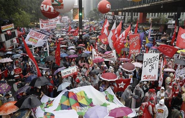 La avenida Paulista volvió a ser centro de nuevas protestas
