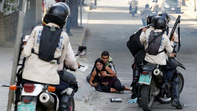 La Guardia Nacional Bolivariana fue acusada de violencia en cada una de las marchas