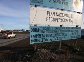 Una de las obras viales que Lázaro Báez realiza en Santa Cruz