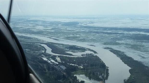 Vista aérea de una de las recorridas
