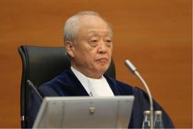 El presidente del Tribunal de los Derechos del Mar, el japonés Shunji Yanai, encargado de leer el fallo sobre el conflicto por la Fragata Libertad