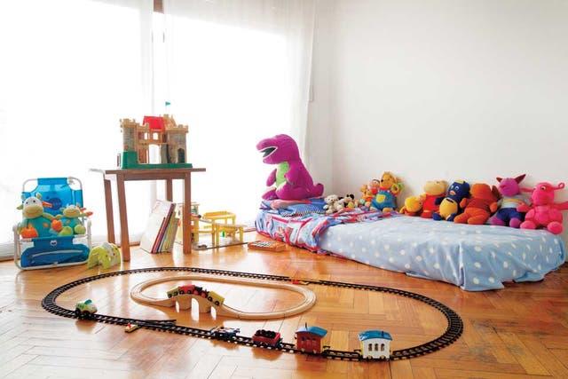En espera de Noah. La habitación que Marcelo Mosenson preparó para su hijo, de quien fue separado hace unos tres años, cuando el niño era un bebe