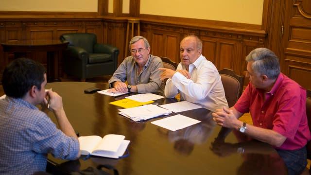 Jorge Sigal, Hernan Lombardi y Miguel Pereira, nuevo titular de TV Publica en el CCK