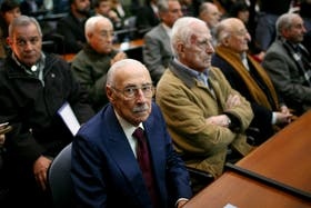 Jorge Rafael Videla el 5 de julio durante el juicio por el robo de bebés