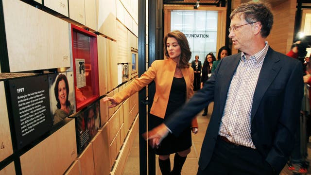 Melinda y Bill en su fundación