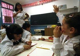 Un momento trascendente en la vida de Leila, de primer grado de la Escuela 23: levantar la mano por primera vez en su historia como alumna