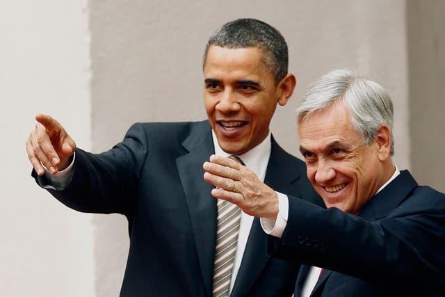 Obama y Piñera, durante la visita del presidente estadounidense a Chile