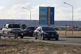 La Presidenta llegó esta tarde a Río Gallegos con un importante despliegue de seguridad