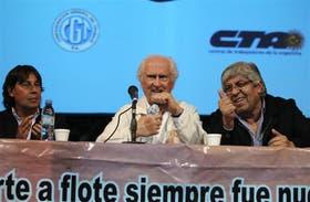 Micheli, Pino y Moyano compartieron escenario