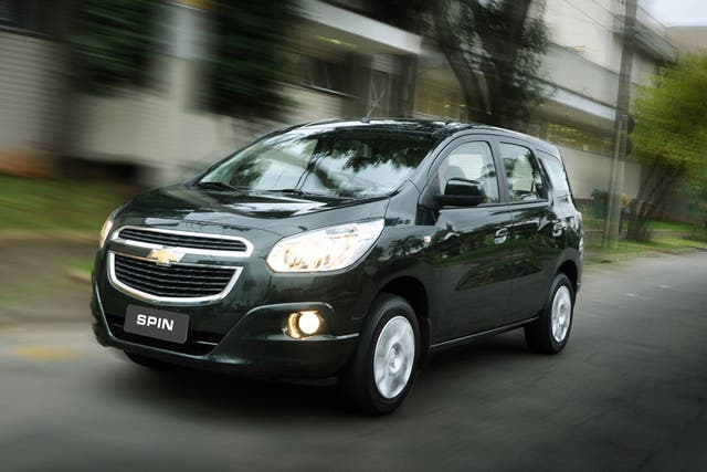 Diseñado y producido en Brasil, el Chevrolet Spin reemplaza al Zafira y al Meriva