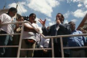 Milagro sala junto a Martín Sabatella, quien elogió el trabajo de la organización barrial Tupac Amaru