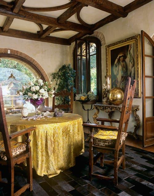 El estilo barroco reina en todos los rincones de la mansión..