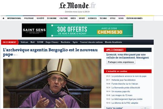 Le Monde de Francia. Foto: Captura de Pantalla