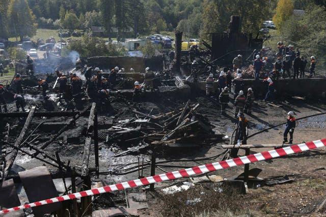 Rusia tiene un deficiente historial de seguridad contra incendios, con cerca de 12.000 muertes por fuego en 2012