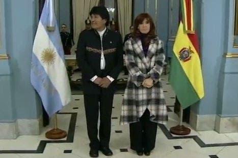 Evo Morales y Cristina Kirchner en la Casa Rosada