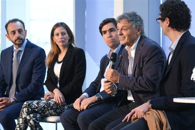 Iandoli, Castro, Tizado, Cabrera y Mayer, en Tecnópolis
