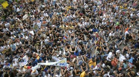 Miles de jóvenes marcharon en Caracas