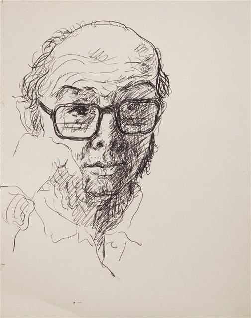 Autorretrato, c. 1976, tinta s/papel