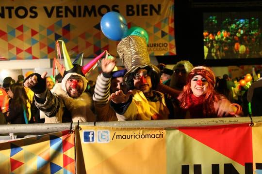 Euforia y festejos en el búnker Pro. Foto: LA NACION / Matías Aimar