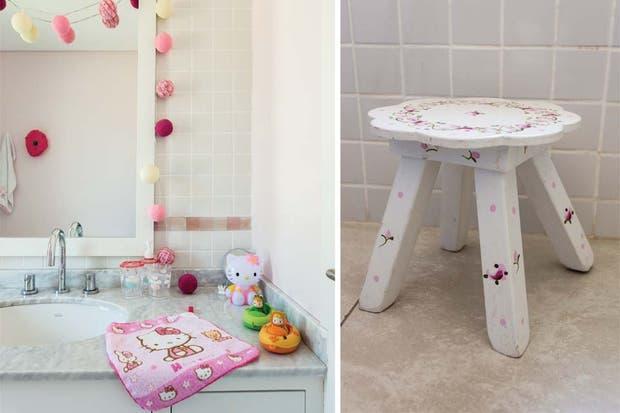 Baños Infantiles Diseno:Las lucecitas (Indio Tienda) que rodean el espejo con marco de madera