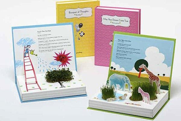 ¿Qué tal estos libros infantiles con plantas que crecen en su interior?. Foto: Craziestgadgets.com